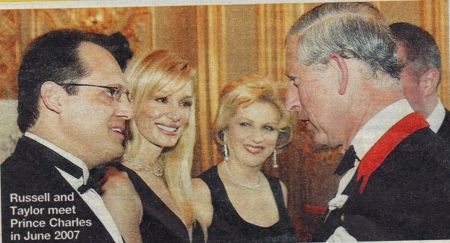 Taylor Armstrong with husband Russell, Prince Charles.