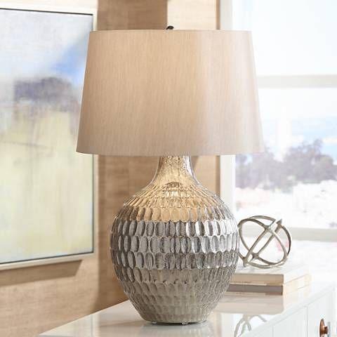 Elegant Possini Euro Burgess Textured Glass Table Lamp
