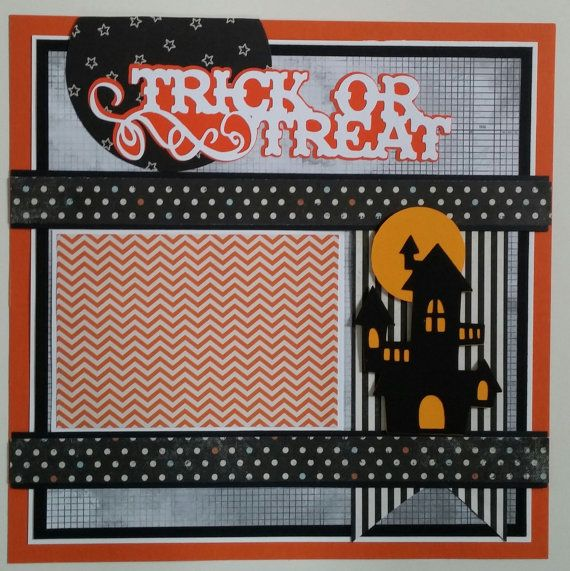 Trick or Treat  Halloween  premade scrapbook by ohioscrapper