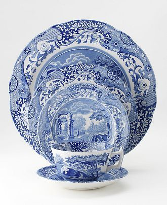 I love Spode dinnerware, a great mix of classic and whimsy.