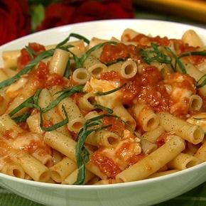 Oven roasted tomato pasta