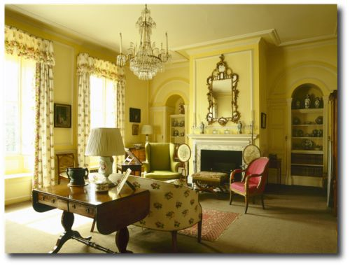Country Life Images English Interiors Regency Decorating Regency Furniture Yellow Historical