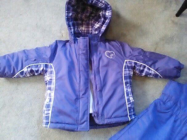 f551023c8e01 Girls 24 mo. Jacket Coat Faded Glory Purple Winter Toddler Baby ...