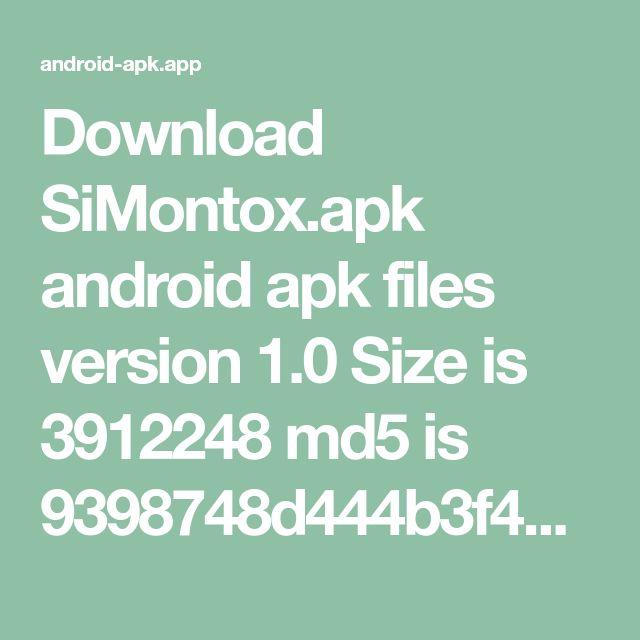 Download SiMontox.apk android apk files version 1.0 Size