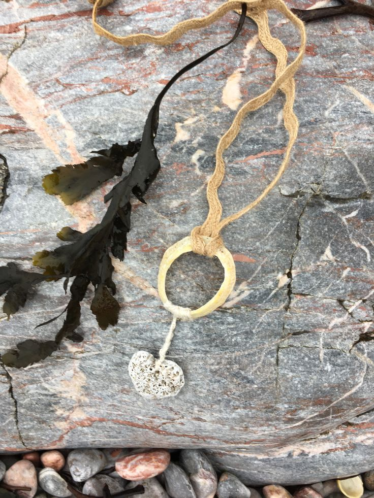 Shell and pebble neckpiece. A memory of Devil's Point beach Plymouth