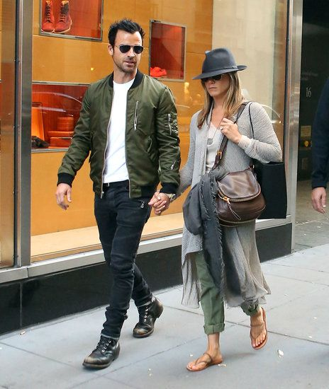 Jennifer Aniston: Jen kept things casual, but pulled together. A fedora and satchel bag helped dress up her relaxed long-line cardigan.