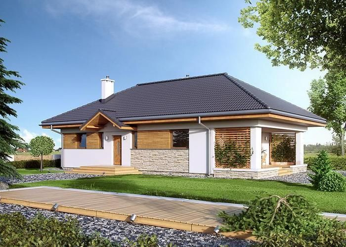 #projekt #dom #parterowy Decyma 3, MTM Styl www.domowy.pl/projekty-domow/mtm-decyma-3.html