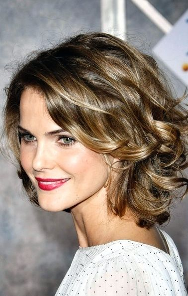 Keri Russell -- brunette with warm highlights