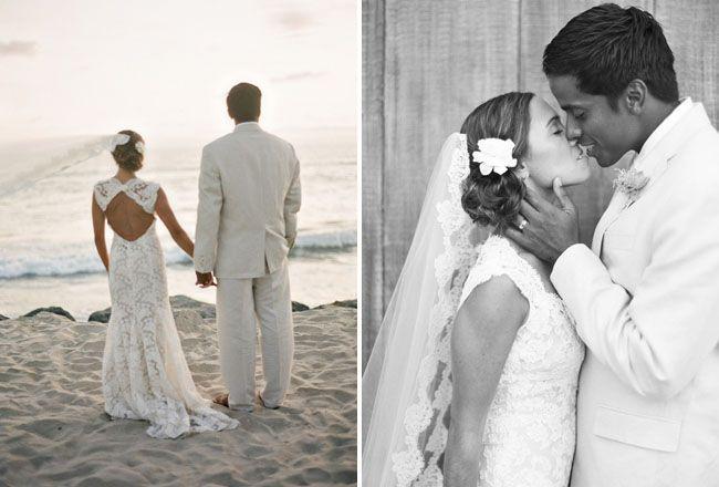 Washed Ashore, An Organic Beach Wedding: Jamie + Jabdiel – Part 1 | Green Wedding Shoes Wedding Blog | Wedding Trends for Stylish + Creative Brides
