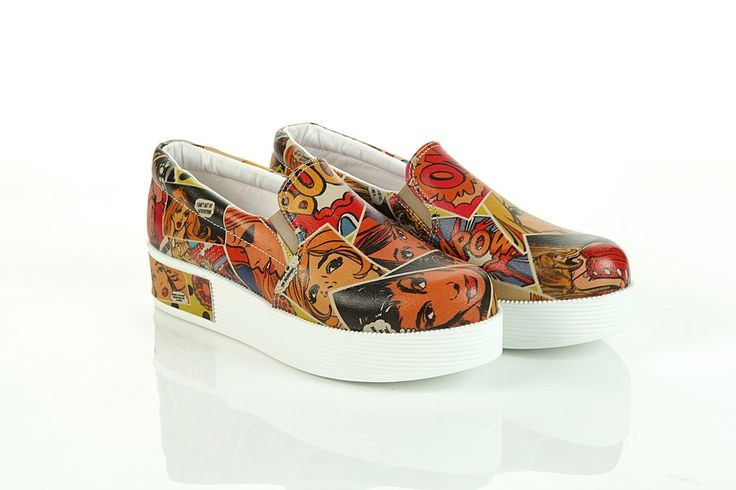 Sneaker Platform VN4211 / Goby shoes / comics pattern / printed shoes / unique style / be fashionista / @ gobyeurope.com