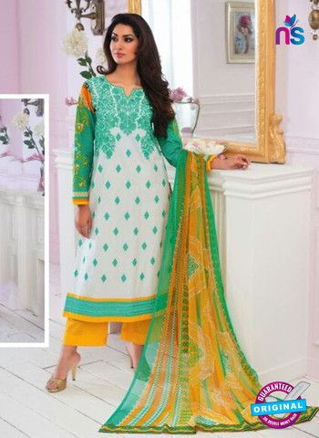 Rivaa14704B - Yellow & White Color Cotton Designer Suit
