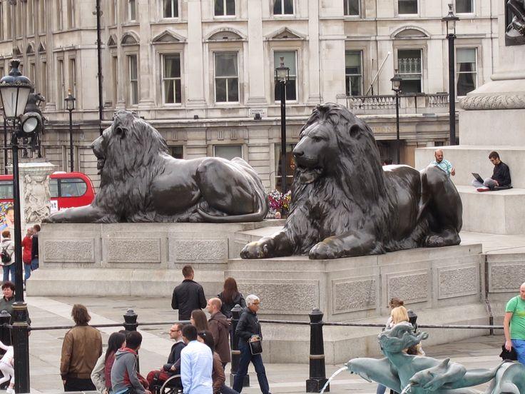 Leones en Trafalgar square.