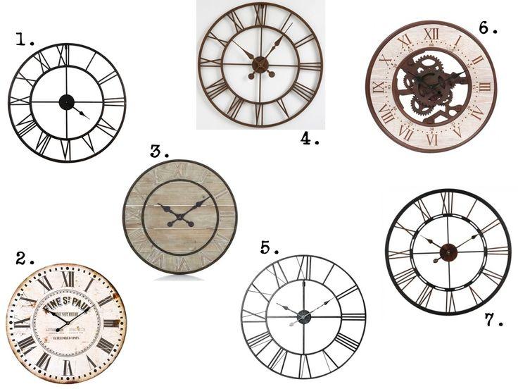 1000 id es sur le th me horloge en bois sur pinterest for Horloge murale style industriel