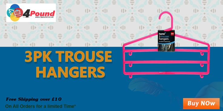 Buy 3PK Trouser Hangers at Low Price with best quality get 50% discount...