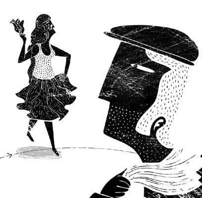 Cueca Brava. Ilustración de Alberto Montt.