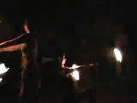 Fire show at Don Mucho's in Palenque jungle