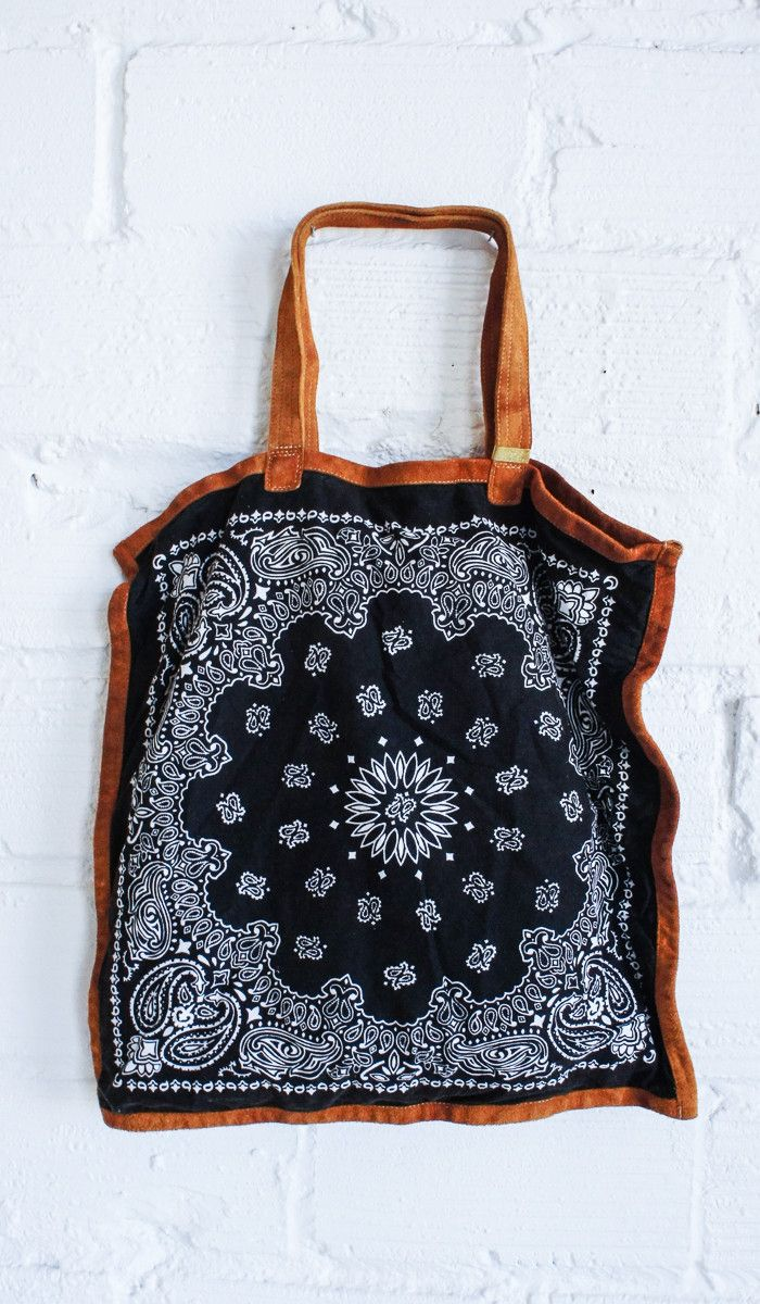 Bandana Tote - I totally can and will make this myself sometime! I will figure out how to do it!                                                                                                                                                     More
