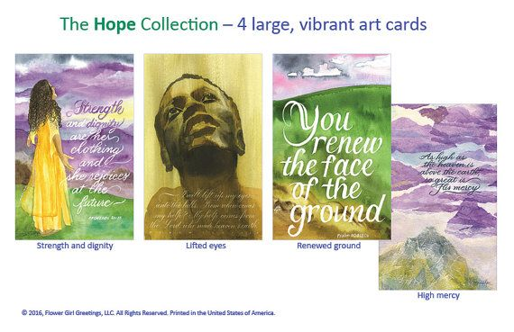 Hope Christian Greeting Card Collection by FlowerGirlGreetings