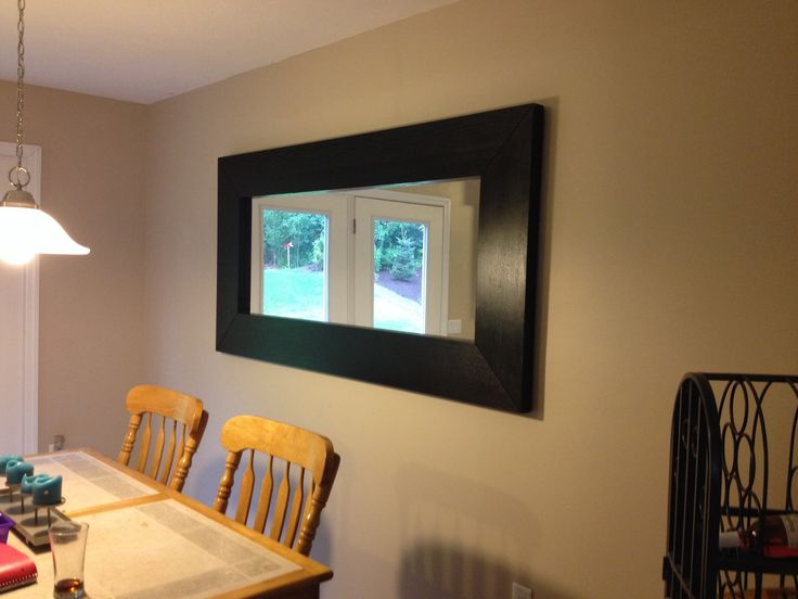 Dining Room With Ikea Mirror Color Is Valspar Hopsack