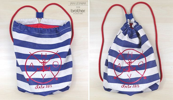 DIY: sailing bag http://www.pracowniajanlesniak.pl/2015/06/diy-sailing-bag/