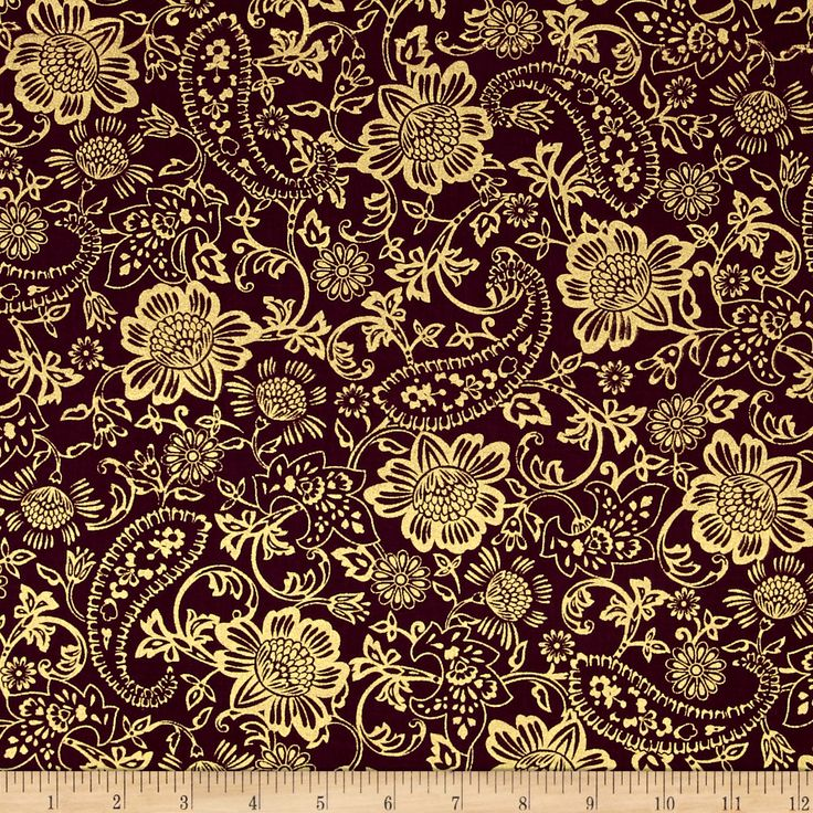 Kanvas Bohemian Rhapsody Tapestry Floral Wineberry Fabric By The Yard