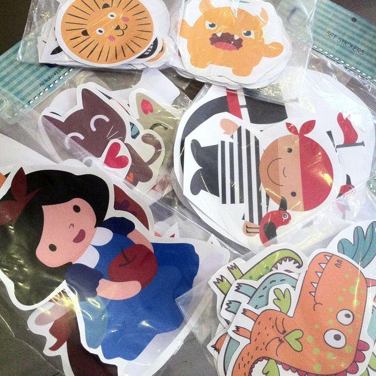 Stickers con originales diseños infantiles.