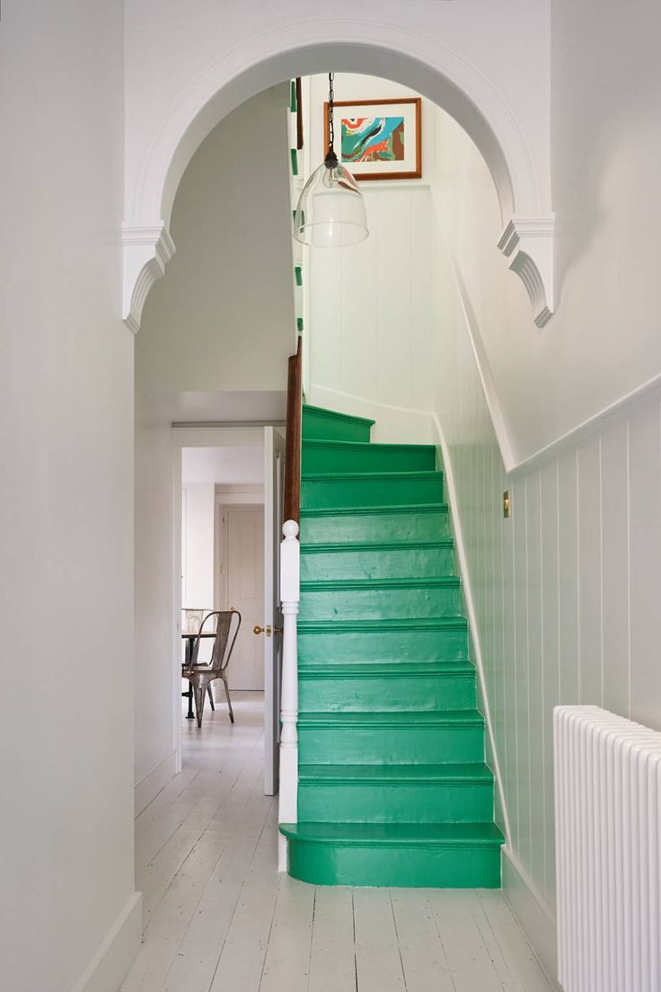 Home Interior Design, Exterior Design, Interior Architecture, Interior And Exterior, Painted Stairs, Timber Flooring, Cozy Room, Large Homes, House Colors