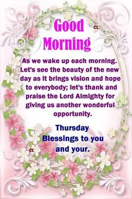 Good morning, have a blessed day!