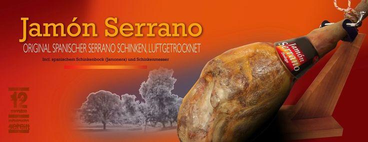 Jamon Serrano 6,500 kg orig. spanischer Serrano Schinken luftgetrocknet, Keule