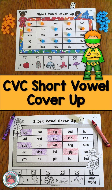 Game maker color blend - Phonics Short Vowel Game Cover Up With Superhero Kids