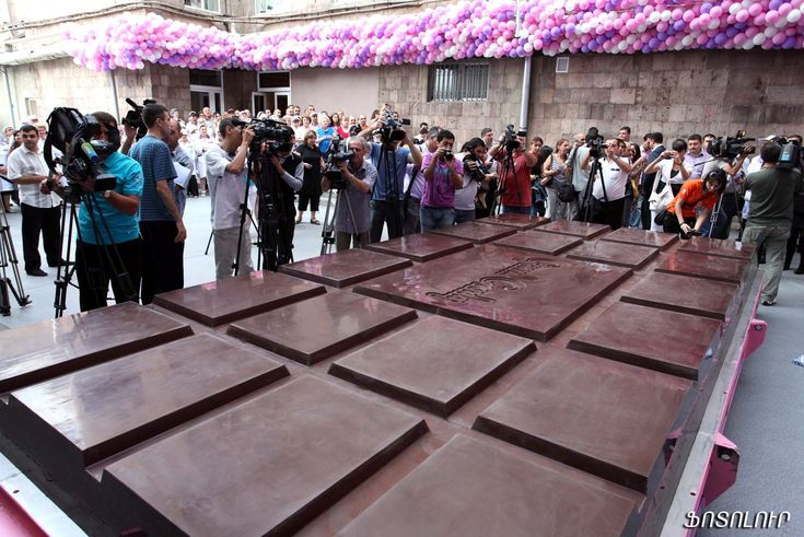 The world's largest chocolate bar weighs a record breaking 5,792.50kg