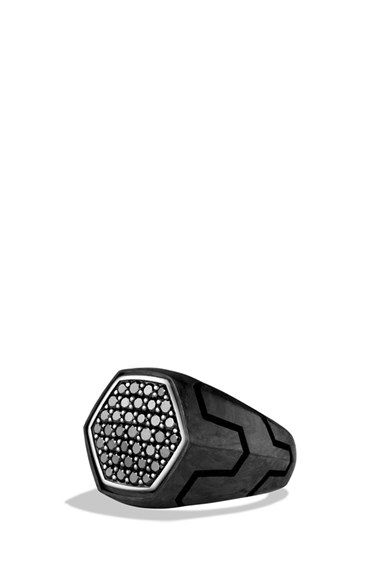 David Yurman 'Forged Carbon' Signet Ring | Nordstrom