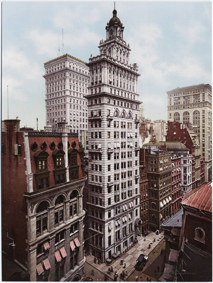 The Gillender Building was completed in the Financial District in 1897, but stood for only 13 years. It was destroyed in 1910 and replaced by a bigger building that combined its neighboring lot.