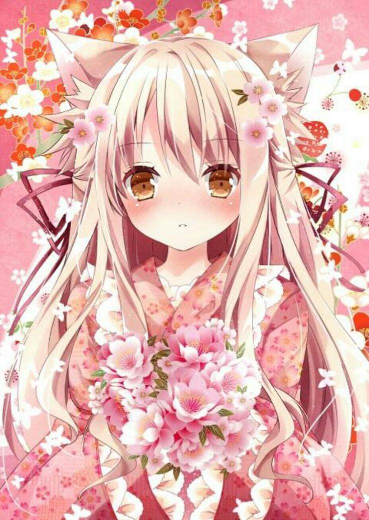Kitsune Girl In Kimono Wallpaper Best 25 Anime Girl Kimono Ideas On Pinterest Anime