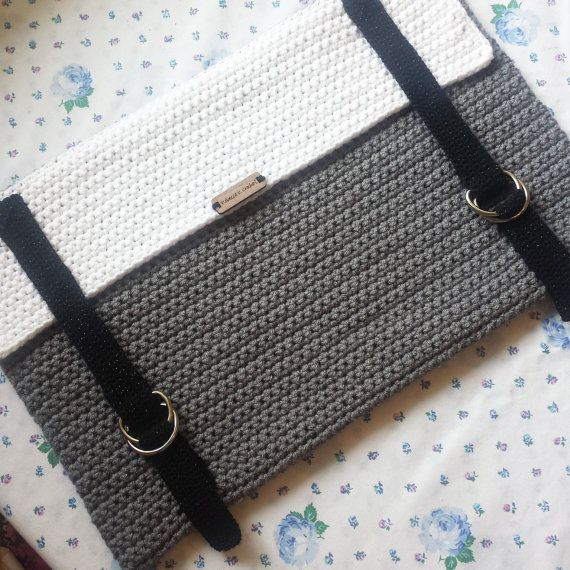 Crochet Laptop Sleeve Laptop Cover Handmade Macbook por RKCHandmade                                                                                                                                                                                 More