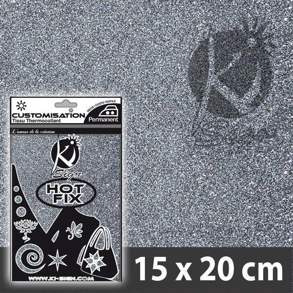 HOT FIX silitettävä arkki: Kimalle - Hopea