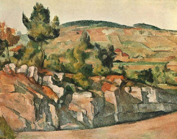 Cezanne S Mountains In Provence Actual Etsy In 2020 Paul Cezanne Paul Cezanne Paintings Cezanne