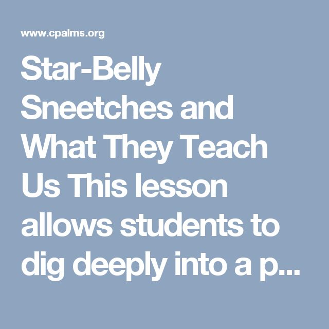 Star-Belly Sneetches and What They Teach Us This lesson allows students to dig deeply into a popular ...