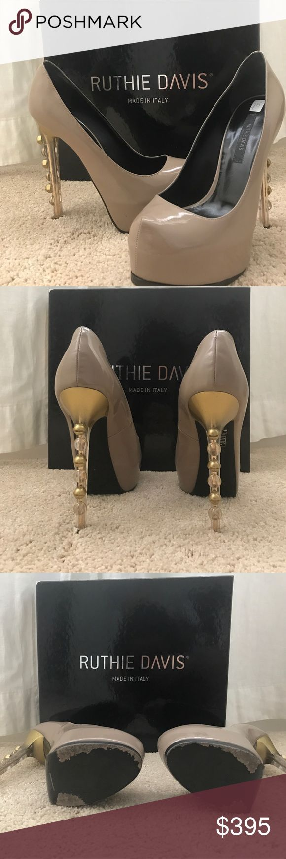 Ruthie Davis Implant Pumps Nude shoe with a funky heel Ruthie Davis Shoes Platforms