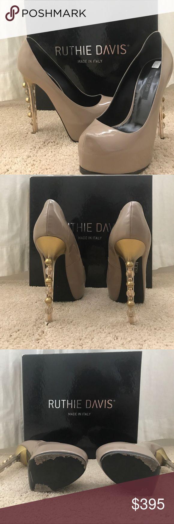 Ruthie Davis Implant Pumps Nude shoe with a funky heel Ruthie Davis Shoes Platforms