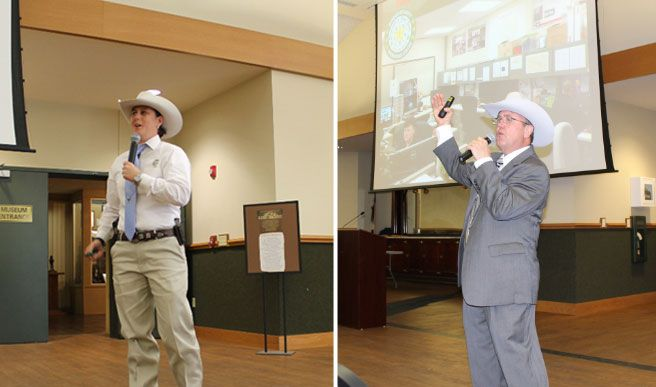 Lt. Wende Wakeman and Assistant Chief Frank Malinak presenting at the Lone Star History Conference 4-2016. News from Texas Ranger Hall of Fame and Museum