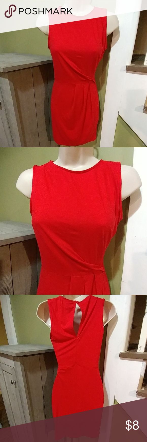 """Lulus Red Mini Dress *If Looks Could Kill*-XS New without tag but has spare button still hanging.  XS Polyester /spandex blend Length down center of back-34"""" Chest-17"""" unstretched Dresses Mini"""