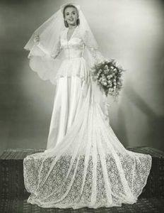 1930s wedding gown.