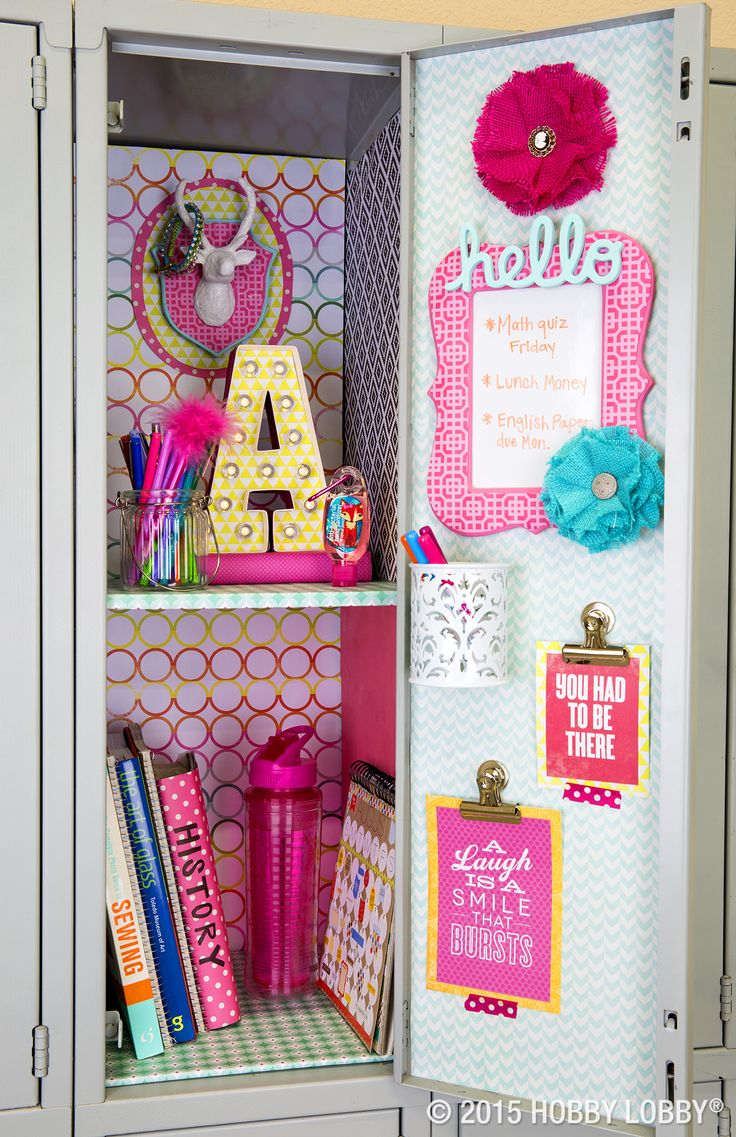Add your own personality to your school space. Simply mix and match your favorite colors and patterns for locker decor that's on top of its class!