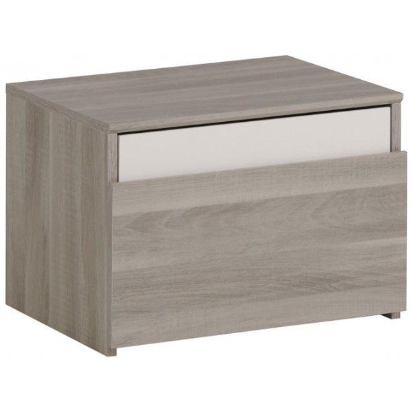 Parisot Mallow Bedside Drawer - Flint Oak