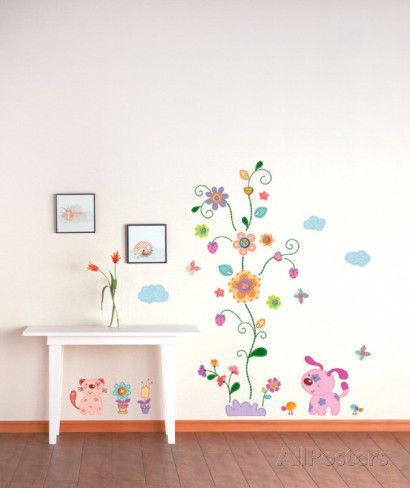 Patches Pets and Flowers Wall Decal at AllPosters.com