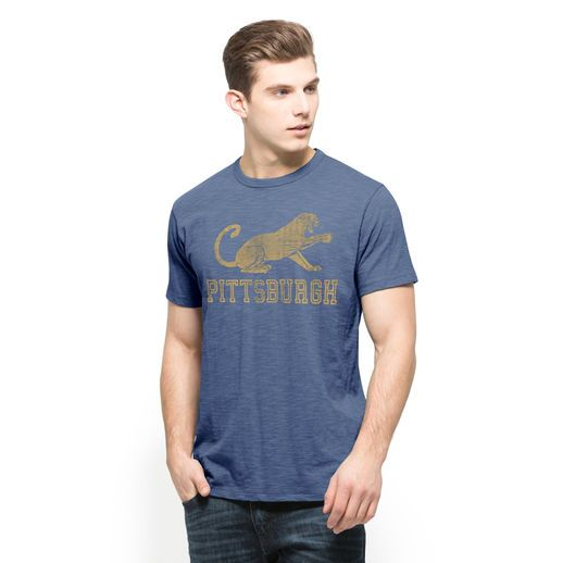 '47 Brand Pitt Panthers Royal Blue Vintage Roc the Panther Scrum T-Shirt