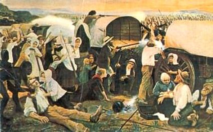 The Battle of Vegkop in 1836, at which a hundred Voortrekkers were attacked by thousands of Matabele tribesmen, ended in a decisive defeat for the natives. The Matabele were driven over the Limpopo River into what is today the country of Zimbabwe, where they remained ever since