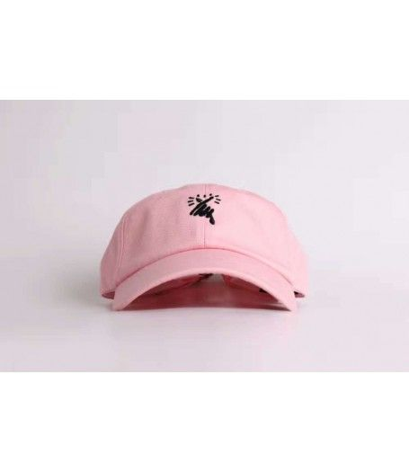 The 8MM Heart Black Low Profile Hat (Pink) - Get yours now at http://hatstash.com :)