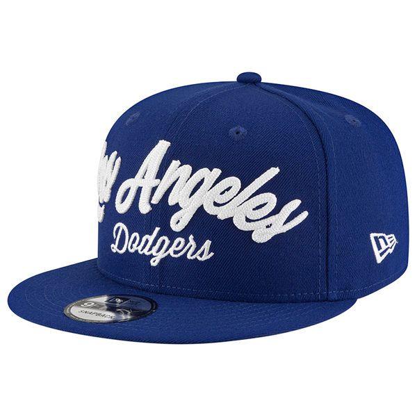 New Era Los Angeles Dodgers Navy City Stitcher 9FIFTY Adjustable Snapback Hat